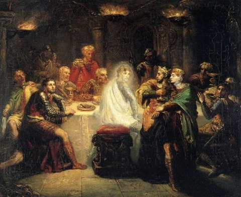 Macbeth Seeing the Ghost of Banquo by Théodore Chassériau
