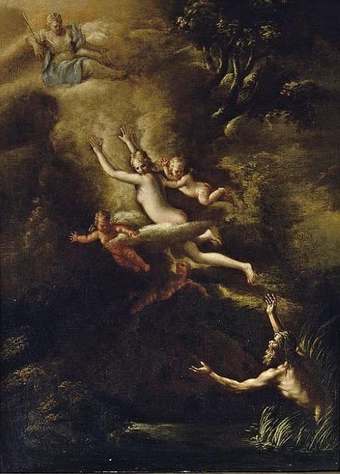 Glaucus fleeing from Skylla,   Diana  Nicola Vaccaro
