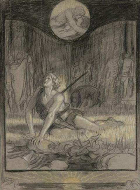the death of siegfried by franz stassen
