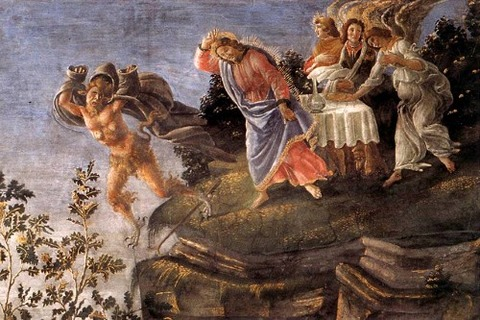 Botticelli, Temptation of Christ (detail)