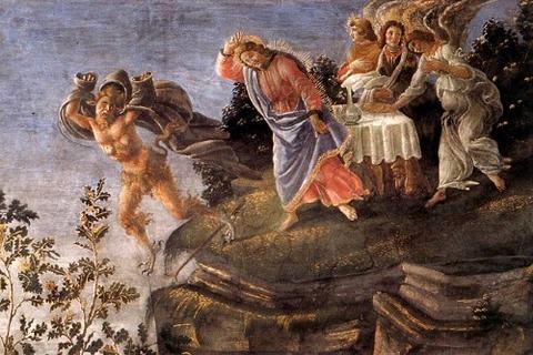 Botticelli, Temptation of Christ (detail)