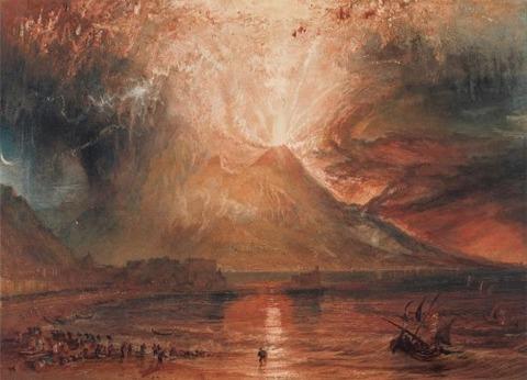 Joseph Mallord William Turner  A Vezúv kitörése 1817-21