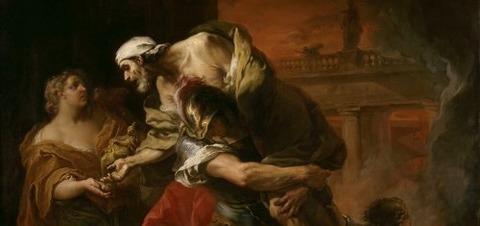 Carle VANLOO Aeneas Carrying Anchises 1729 -