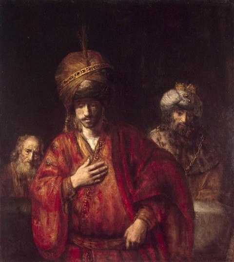 Rembrandt_-_Haman_Recognizes_his_Fate 1648-65