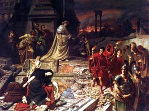 Karl von Piloty Nero Róma égését szemléli 1861