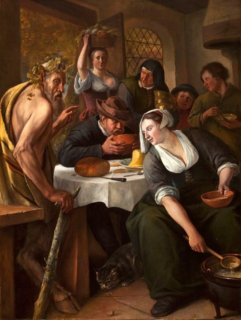 Jan Steen The Satyr and the Peasant 1660