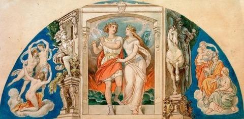 Marriage Figaro and Don Giovanni 1865-7 Moritz von Schwind