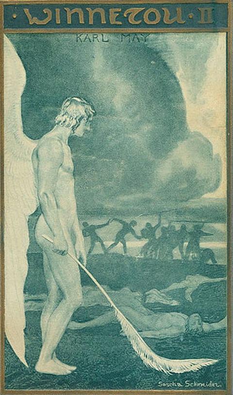 Buchdeckel des Romans Winnetou II von Karl May 1905