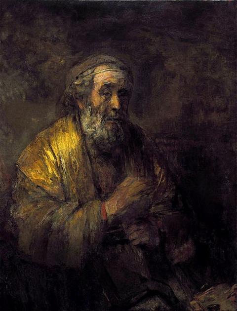 Rembrandt van Rijn Homer 1663