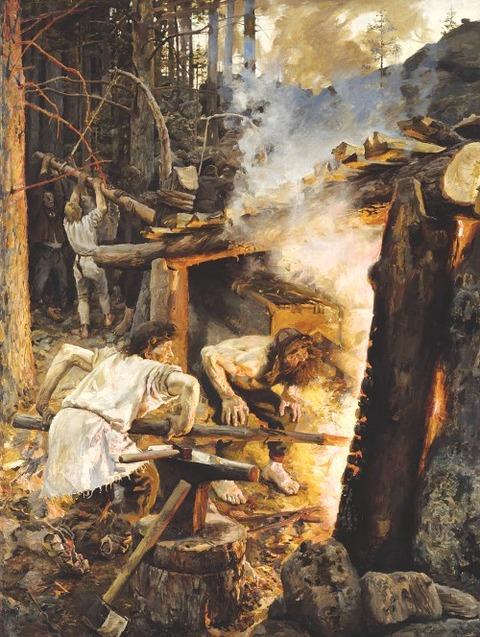 Akseli Gallen-Kallela Sammon taonta, 1893
