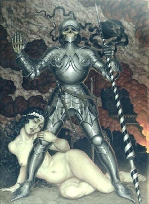Nikolai Kalmakov - Death and the Maiden, 1910