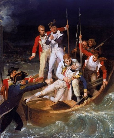 Nelson when wounded at Teneriffe Richard Westall 1806