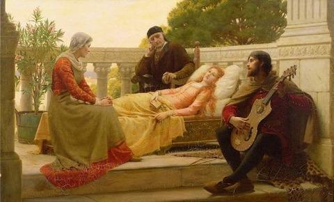 Edmund Blair Leighton - How Liza Loved the King 1890