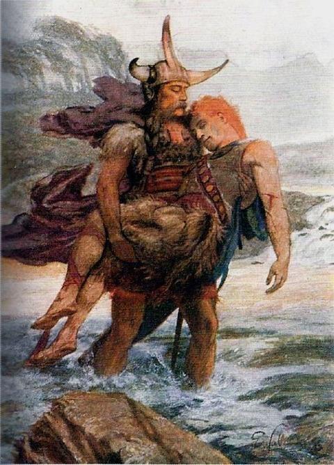 Wallcousins Cuchulainn Carries Ferdiad Across the River 1905