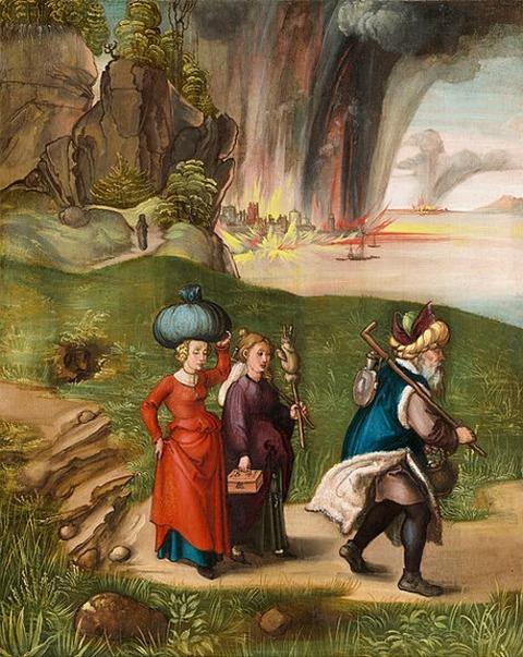 Albrecht Dürer - Lot and His Daughters  1496-99
