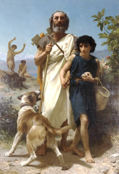 Homer and guide William-Adolphe Bouguereau 1825–1905