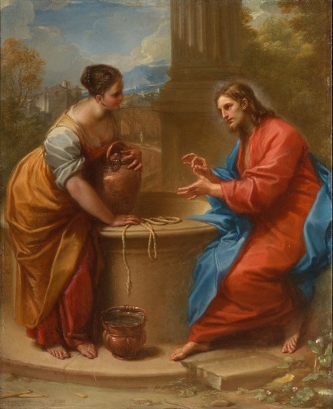 Christ and the Woman of Samaria  Benedetto Luti 1715-20