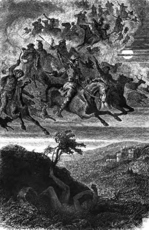 The Wild Hunter by Rudolf Friedrich August Henneberg, 1856