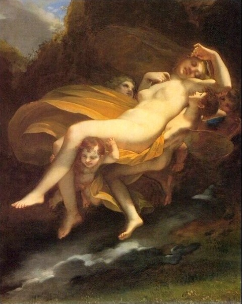 Pierre-Paul Prud'hon (1758- 1823) The Abduction of Psyche