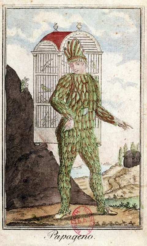 Papageno the bird-catcher Italian School 18th