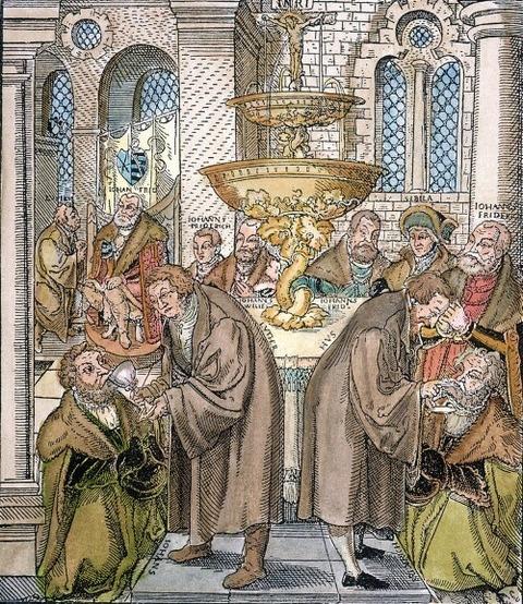 Martin Luther & Jan Hus lucas cranach 1472-1553