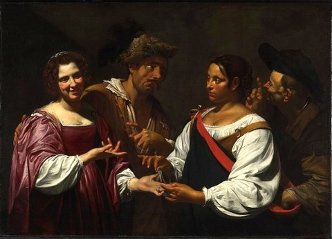 Simon Vouet - The Fortune Teller 1620