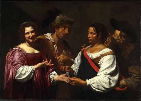 Simon Vouet - The Fortune Teller 1620