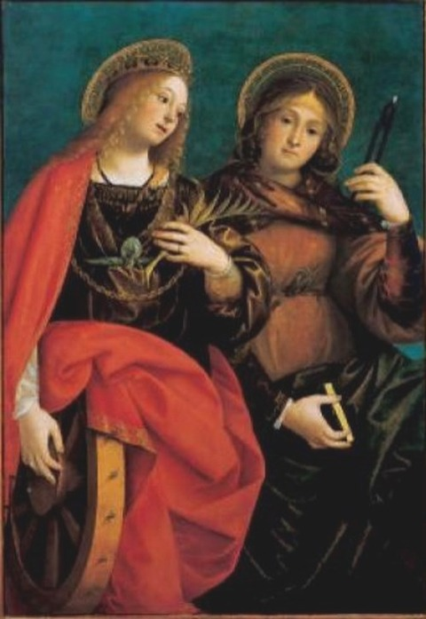 St Catherine of Alexandria and St Apollonia by Gaudenzio Ferrari