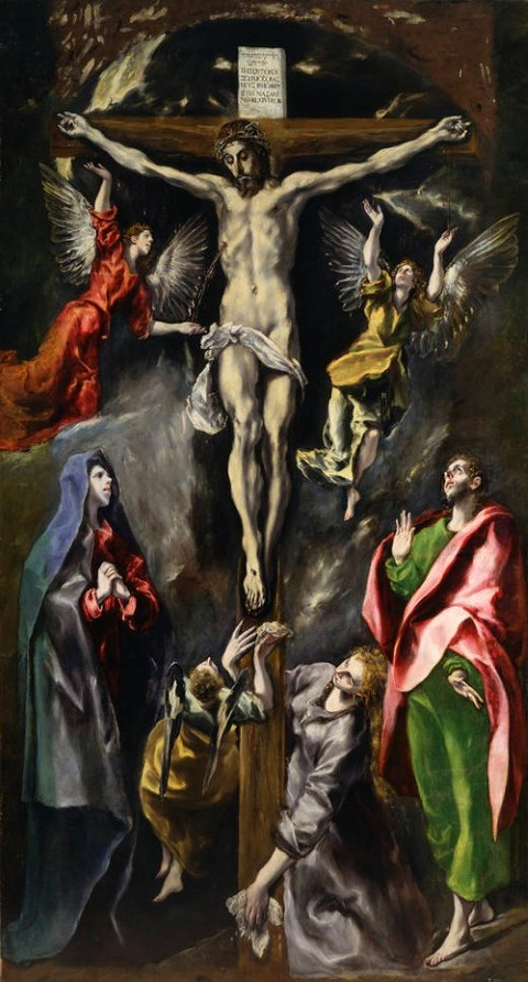 The Crucifixion 1596-1600 by El Greco