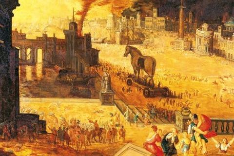 The Siege of Troy (Musée des Beaux-Arts, Blois, 17th)