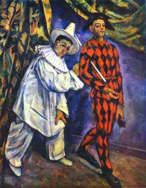 Paul Cézanne- Pierrot and Harlequin 1898