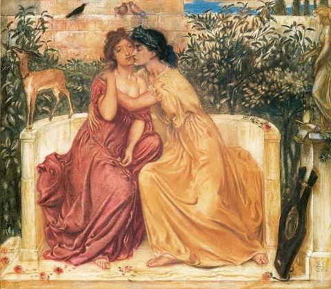 Sappho Erinna In A Garden Mitylene  Simeon Solomon 1864