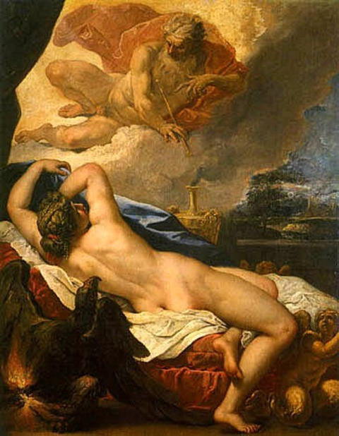 Jove and Semele (1695) by Sebastiano Ricci