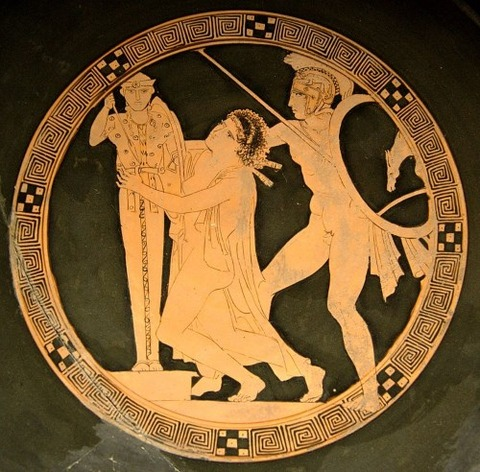 tondo of a red-figure kylix   Kodros Painter  440–430 BC