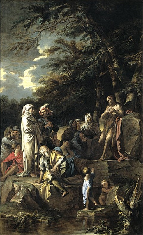 John the Baptist Preaching in the Wilderness 1660