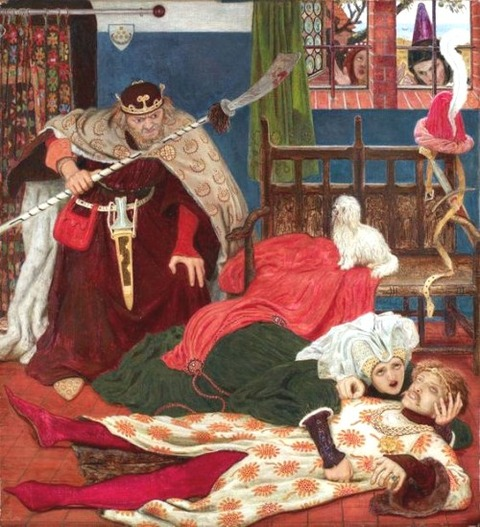 Ford Madox Brown -- The Death of Sir Tristan 1864