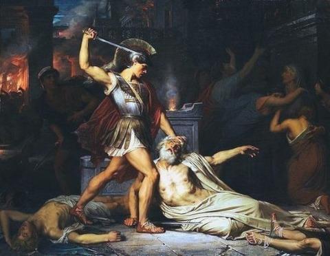 プリアモスの死 1861 Jules Joseph Lefebvre