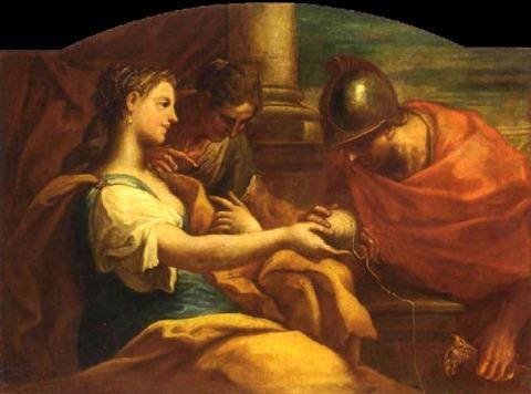 NICOLO BAMBINI  1651-1736 Ariadne and Theseus