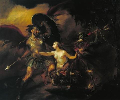 William Hogarth Satan, Sin and Death 1735-40