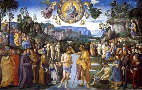 Baptism of Christ, 1481 - 1483 - Pietro Perugino