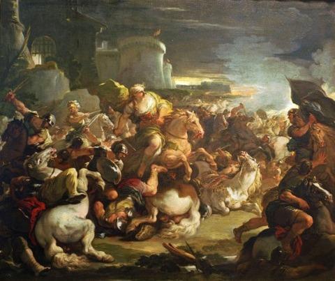 Semiramis in Battle  Luca Giordano
