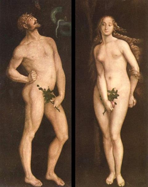 Hans_Baldung_green  アダムとイヴ 1520-25