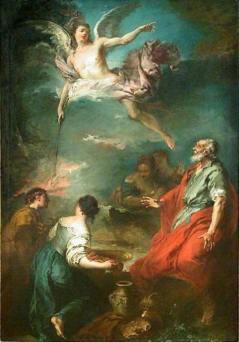 François BOUCHER Le Sacrifice de Gédéon