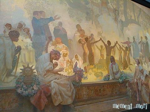 スラヴ菩提樹の下で行われるオムラジナ会の誓い (2)