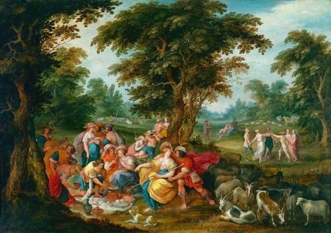 Frans Francken, Arcadia - The Golden Age
