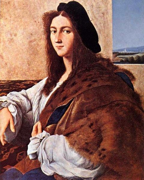 Raphael Sanzio  Raffaello 1483 - 1520 Portrait of a Young