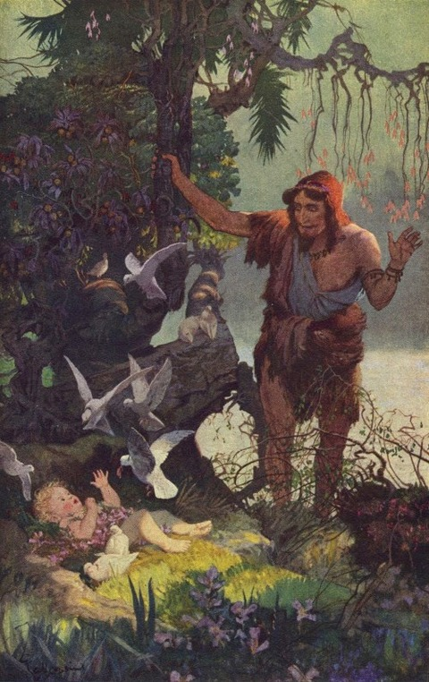 Shepherd finds the Babe Semiramis Ernest Wallcousins 1915