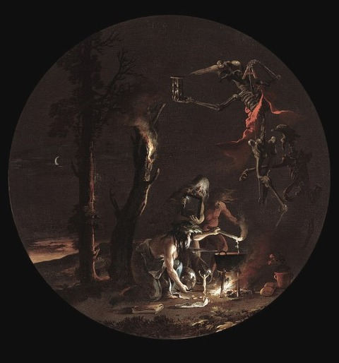 Scene with Witches - Evening, 1645-1649