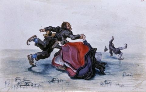 Tumbling Skaters, 1620-26, Adriaen Pietersz van de Venne