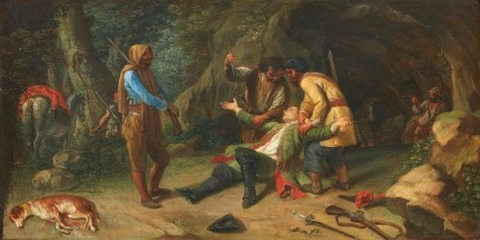 German School 19th The-Robbery in the Woods